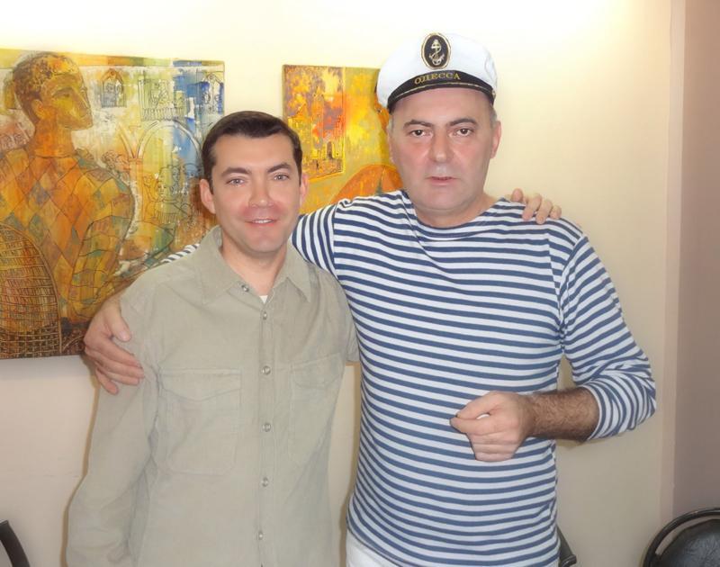 Поэт Горан Лазович и переводчик Сергей Щеглов. Красноярск, 2013.